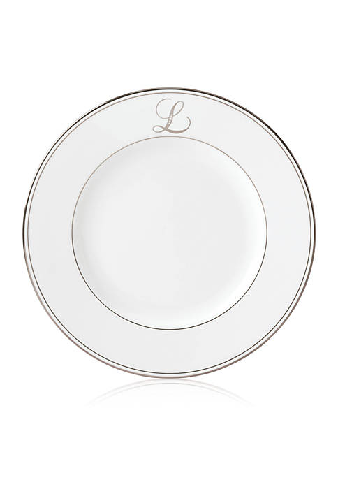 Lenox® Federal Platinum Script Monogram Dinner Plate