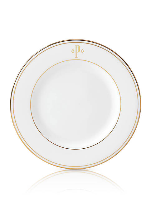 Lenox® Federal Gold Block Monogram Salad Plate