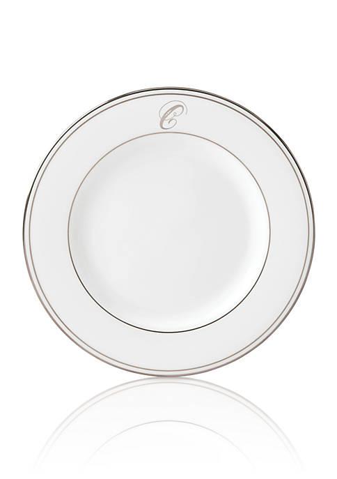 Lenox® Federal Platinum Script Monogram Salad Plate