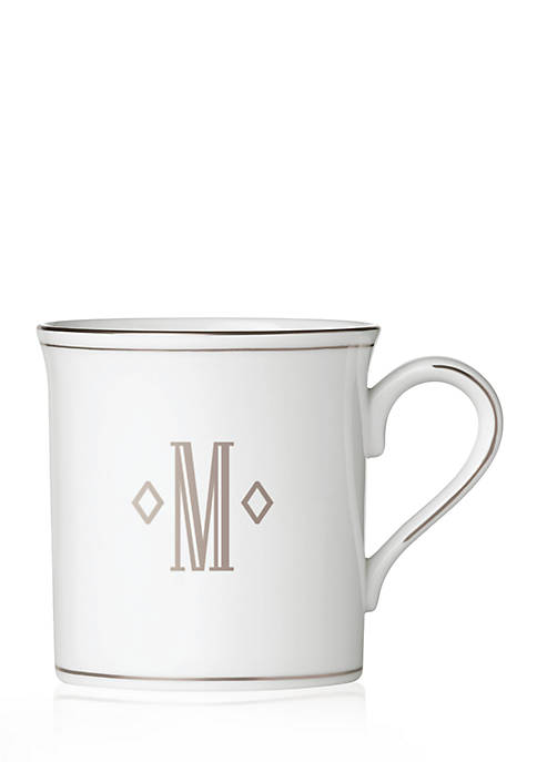 Lenox® Federal Platinum Block Monogram M Mug