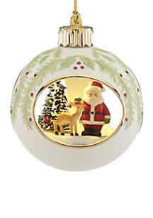 Lit Santa Ornament