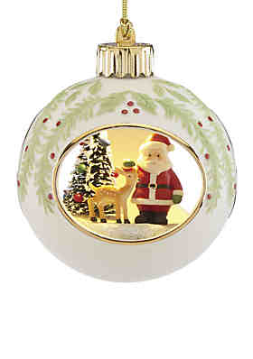 lenox lit santa ornament - Lenox Christmas Decorations