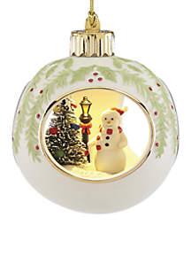 Lit Snowman Ornament