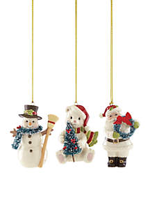 2018 Winter Wonderland Ornaments, Set of 3
