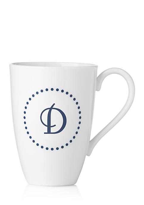 Lenox® I.D. Navy Dots Script Monogram Mug