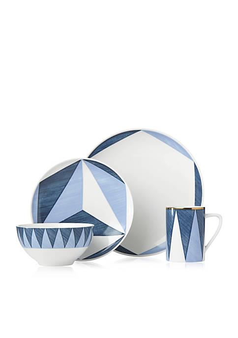 Lenox® Luca Andrisani Triangoli 4-Piece Place Setting