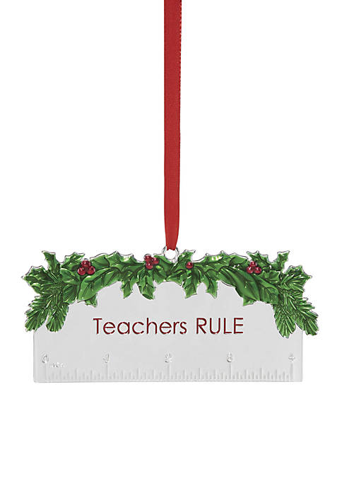 Lenox® 2018 Teachers Rule Ornament