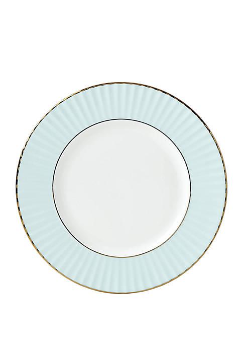 Pleated Aqua Salad Plate