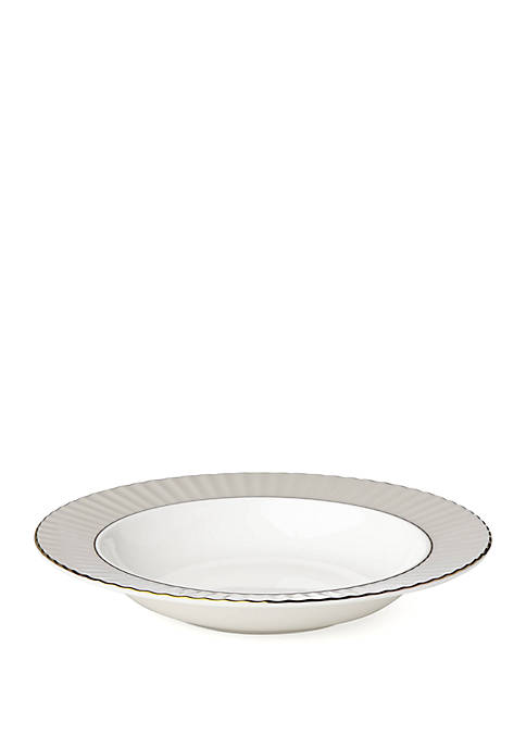 Lenox® Pleated Colors Gray Rim Pasta/Soup Bowl