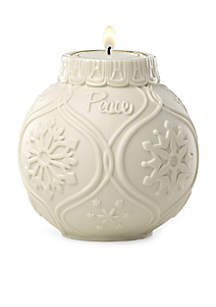 Ornamental Glow Snowflake Scroll Votive