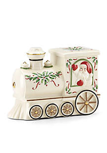 Holiday Santa Train Cookie Jar