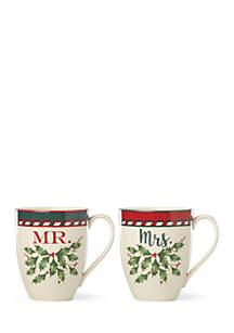 Holiday Mr. & Mrs. Two-Piece Mug Set