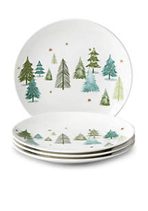 Balsam Lane Accent Plate, Set of 4