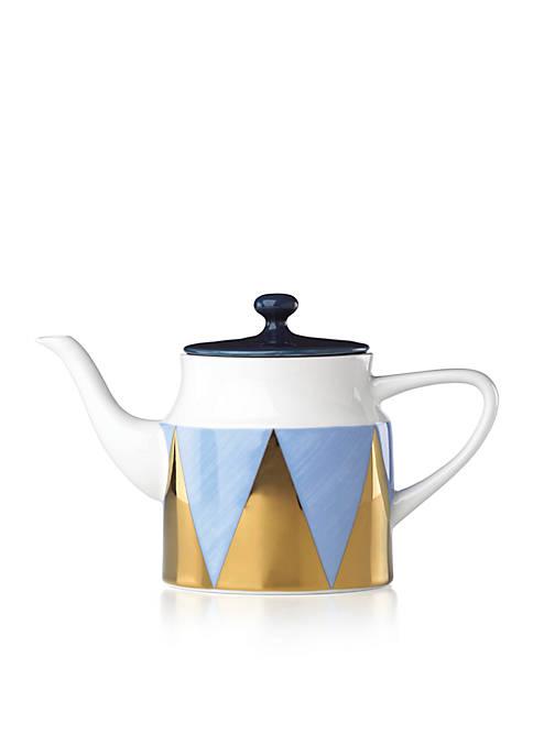 Lenox® Luca Andrisani Blue Azzurro Angles Teapot