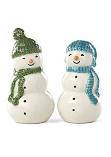 Balsam Lane Snowman Salt & Pepper Shaker Set