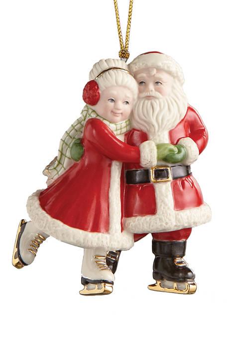 Lenox® Ice Skating Santa and Mrs. Claus Ornament