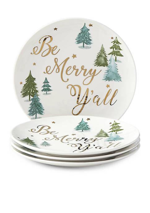 Lenox® Balsam Lane Be Merry Yall Appetizer Plate,