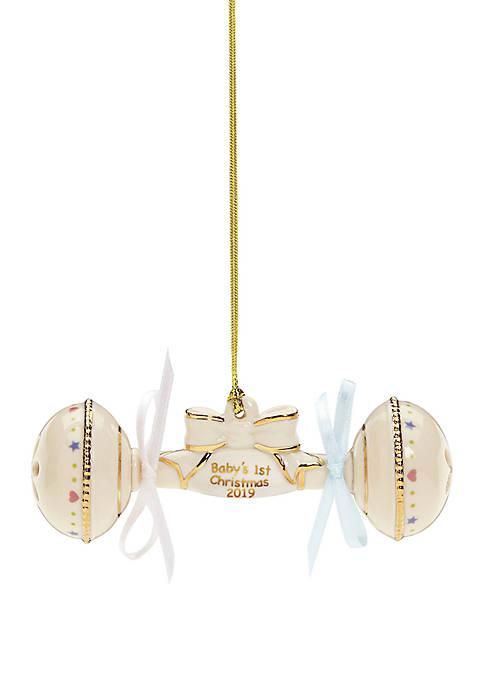 Lenox® 2019 Babys 1st Christmas Rattle Ornament
