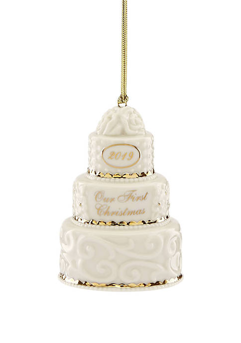 Lenox® 2019 Our 1st Christmas Together Cake Ornament