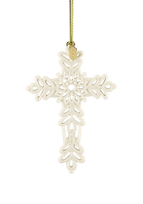 Lenox® 2019 Snow Fantasies Cross Ornament