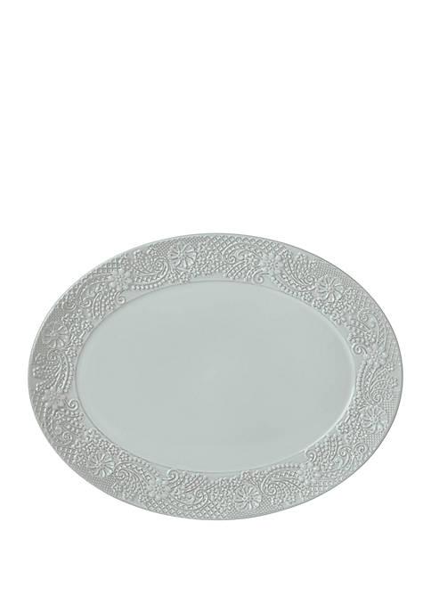 Chelse Muse Flowing Floral Oval Platter