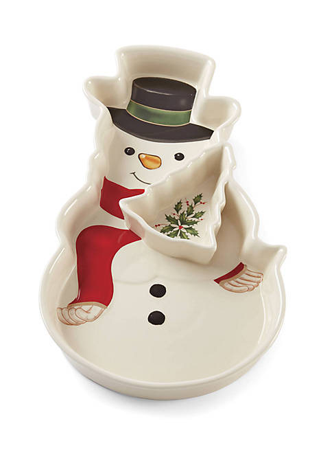 Lenox® Snowman Chip and Dip Tray