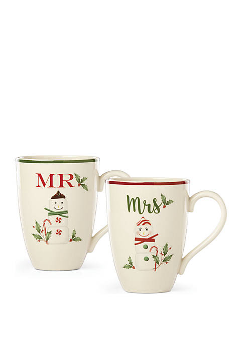Lenox® Mr & Mrs Mug Set