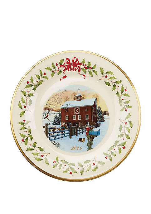 Lenox® 2019 Holiday™ Collectors Barn Scene Plate