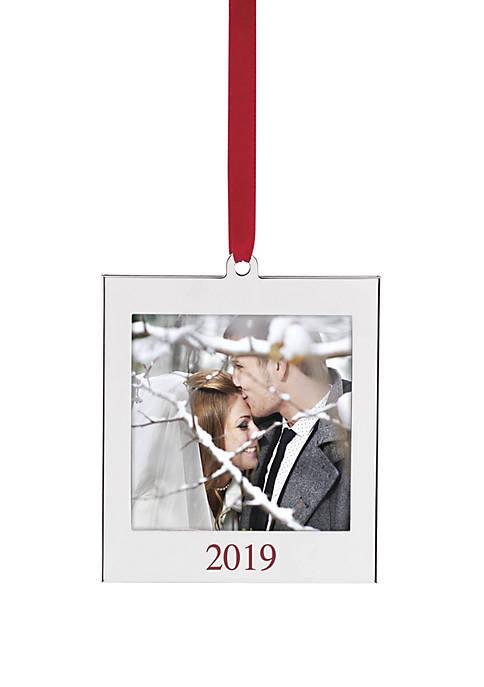 Lenox® 2019 Silver Pic Frame Ornament