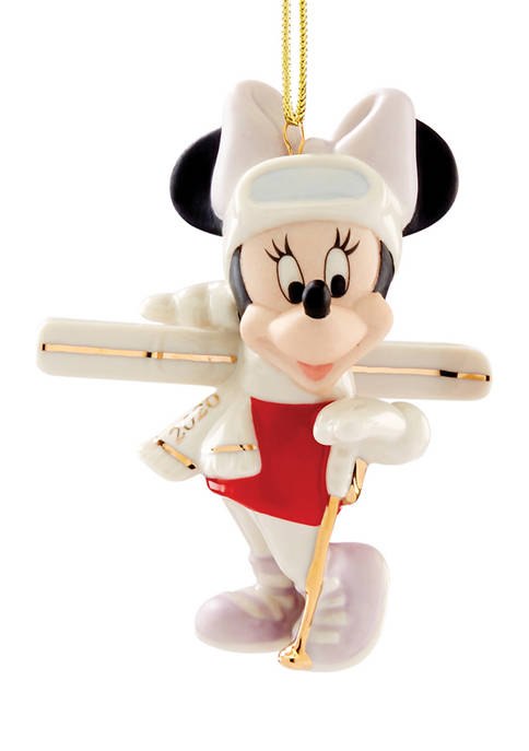 Lenox® 2020 Season for Skiing Minnie Ornament
