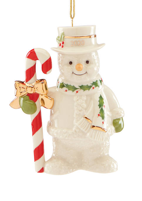 Lenox® 2020 Candy Cane Snowman Ornament