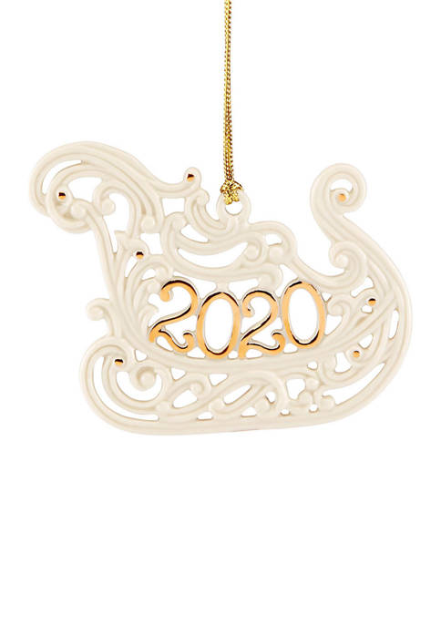 Lenox® 2020 A Year to Remember Sleigh Ornament