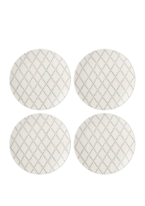 Lenox® Textured Neutrals Set of 4 Dinner Plates