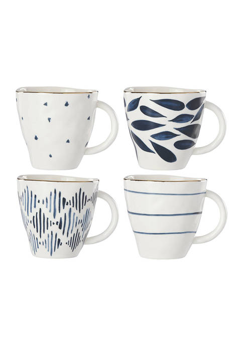 Lenox® Blue Bay Set of 4 Mugs
