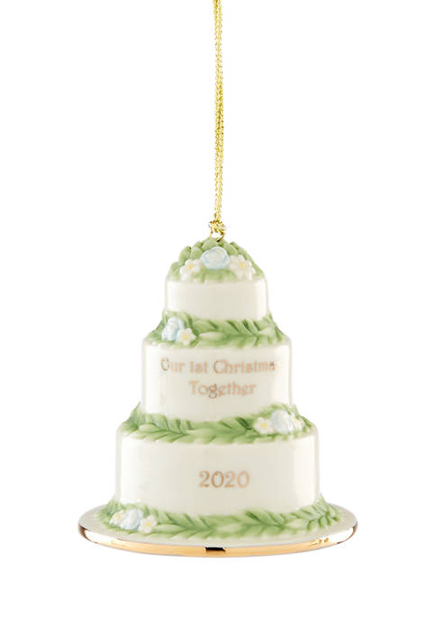 Lenox® 2020 Our 1st Christmas Together Cake Ornament