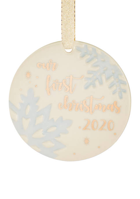 Lenox® 2020 Our 1st Christmas Together Snowflake Ornament