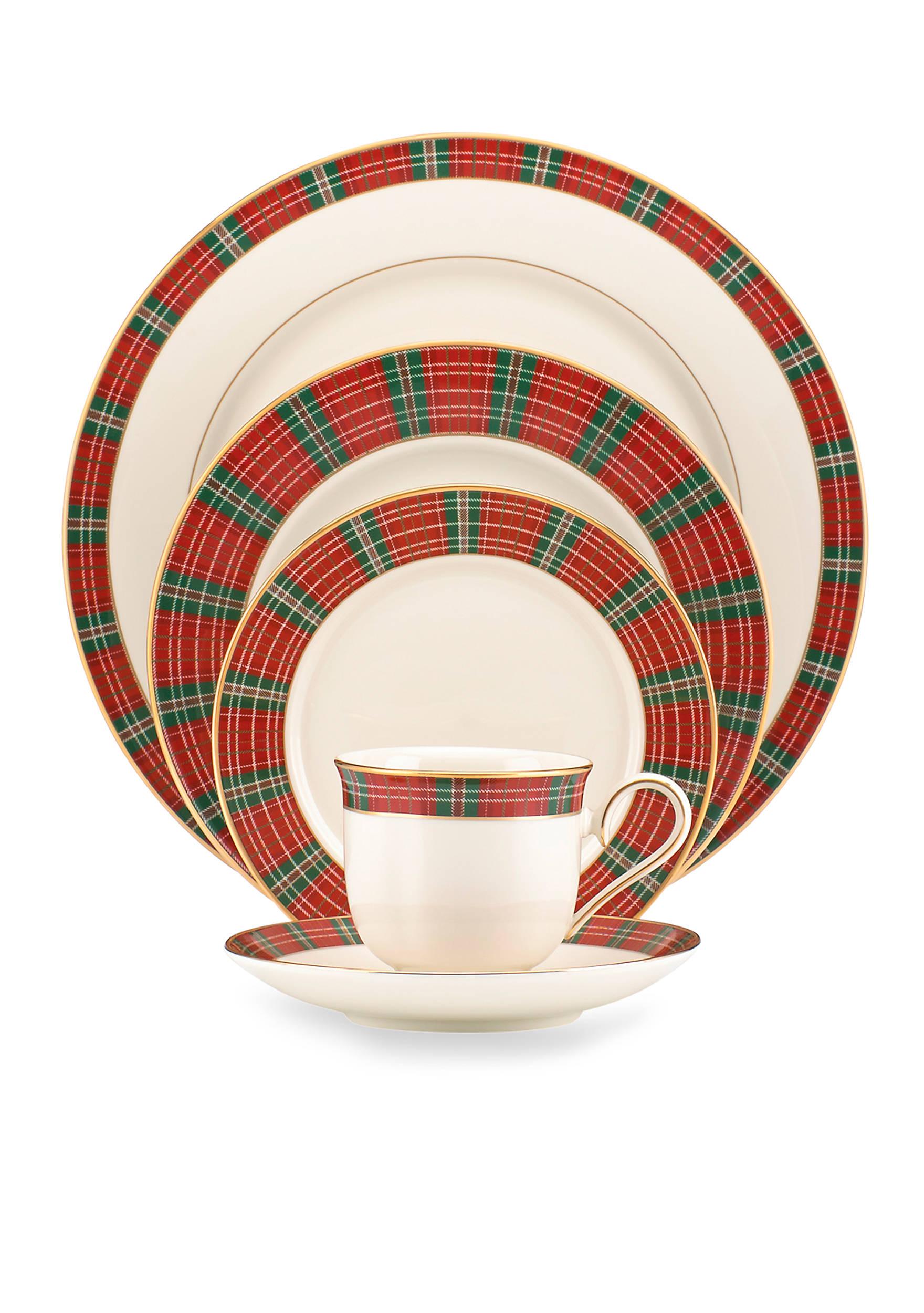 Lenox winter greetings plaid dinnerware belk winter greetings plaid dinnerware collection kristyandbryce Choice Image