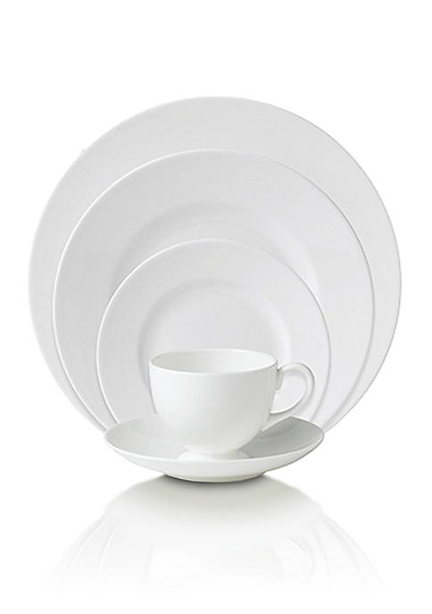 White 5-Piece Place Setting