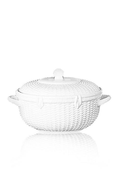 Nantucket Basket Covered Vegetable Bowl