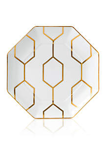 Arris Octagonal White Accent Plate