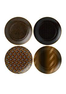 Arris Accent Tea Plate, Set of 4