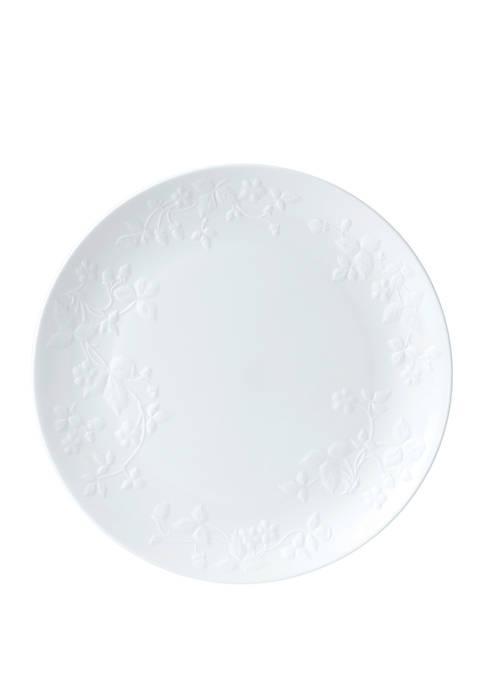 Wild Strawberry White Service Plate