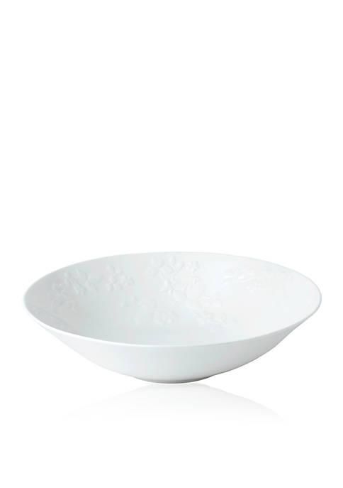 Wild Strawberry White Centerpiece Bowl