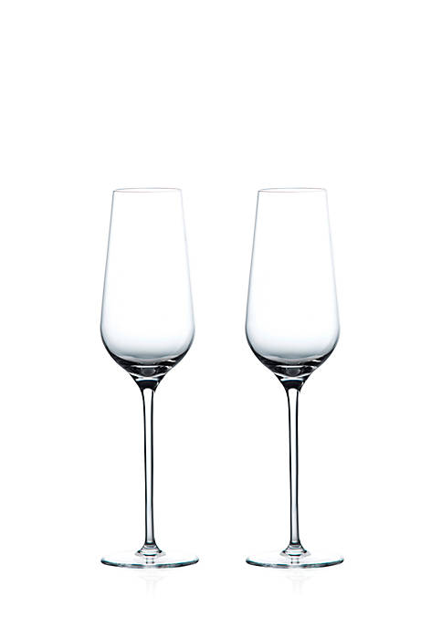 Wedgwood Globe Champagne Flute, Set Of 2