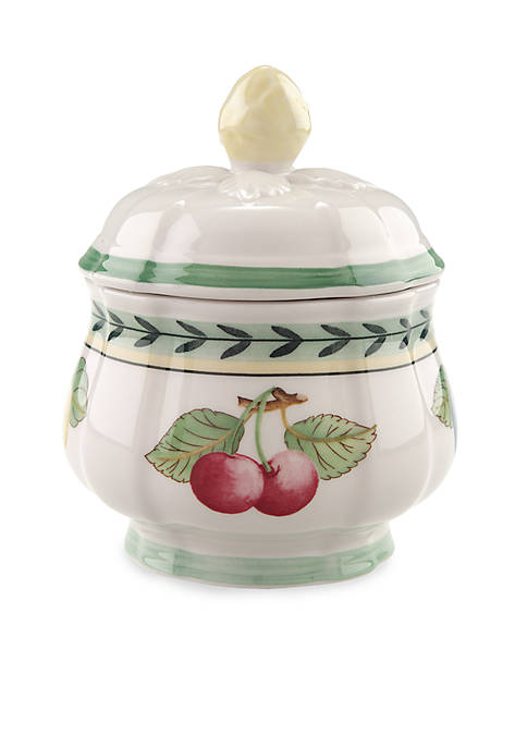 French Garden Fleurence Covered Sugar Bowl