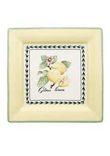 French Garden Square Dinner Plate 10.25-in.