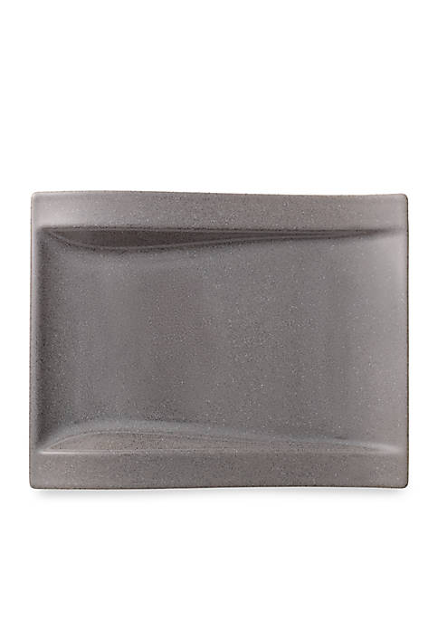 New Wave Stone Rectangular Salad Plate, 10.5-in.