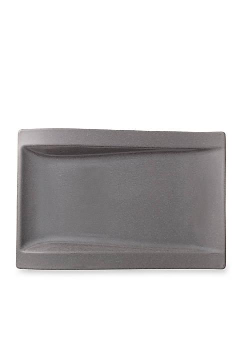 New Wave Stone Rectangular Dinner Plate, 12.5-in.