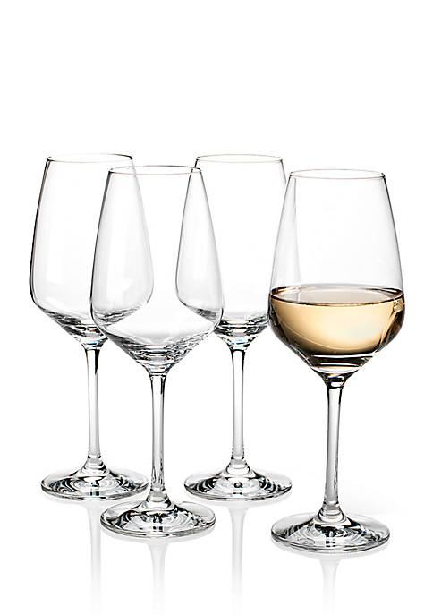villeroy boch voice basic white wine glass set of 4 belk. Black Bedroom Furniture Sets. Home Design Ideas