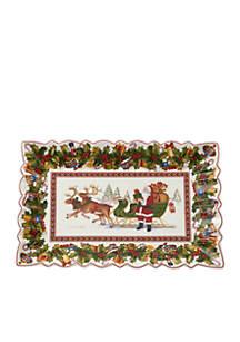 Toy\u2019s Fantasy Packing Santa\u2019s Sleigh Rectangular Cake Plate